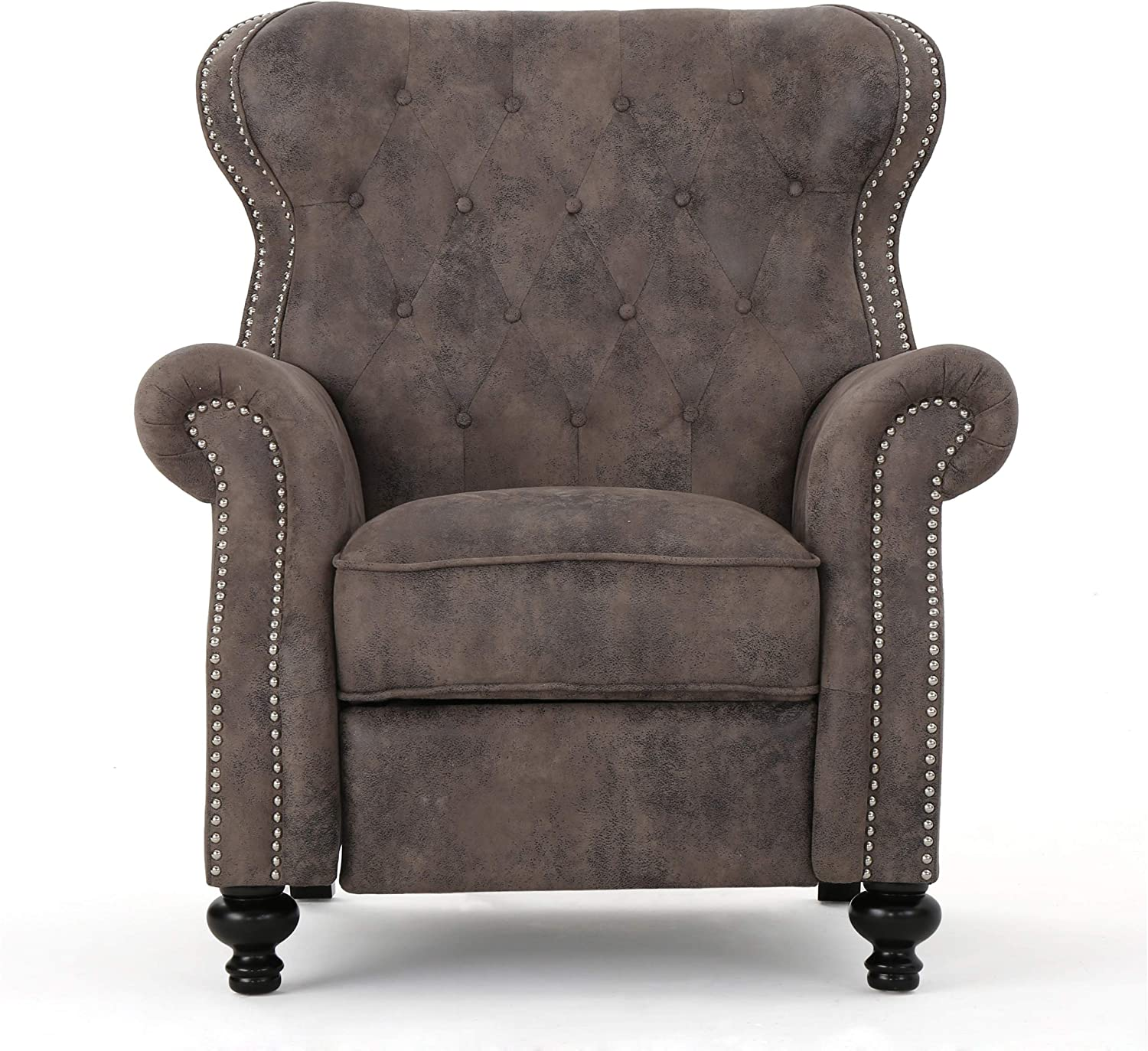 9.Furniture Waldo Tufted Wingback Recliner Chair
